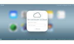 iCloud com page de connexion