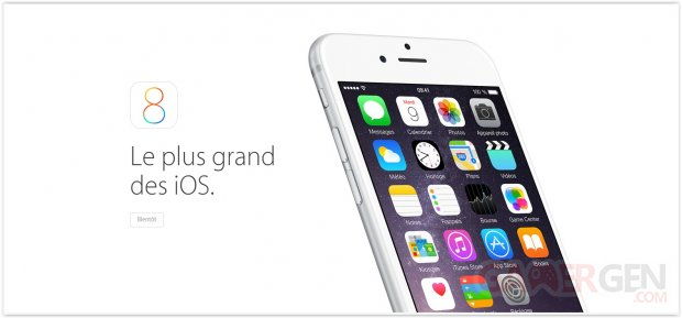 iOS8 large apple
