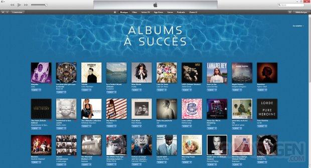 itunes albums succes