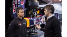 Jann Mardenborough chats to Andy Damerum of Infiniti Red Bull Racing