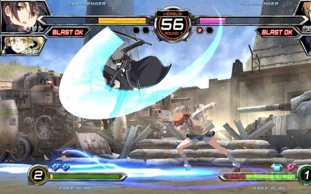 Kirito Dengeki Bunko Fighting Climax combat
