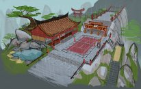 KungFutennis court paintover   Deuce
