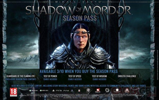 La Terre du Milieu L Ombre du Mordor 18 08 2014 Season Pass