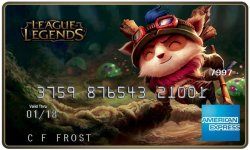 League of legends carte american express