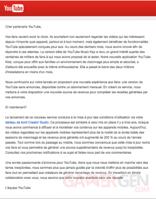 Lettre Youtube FR