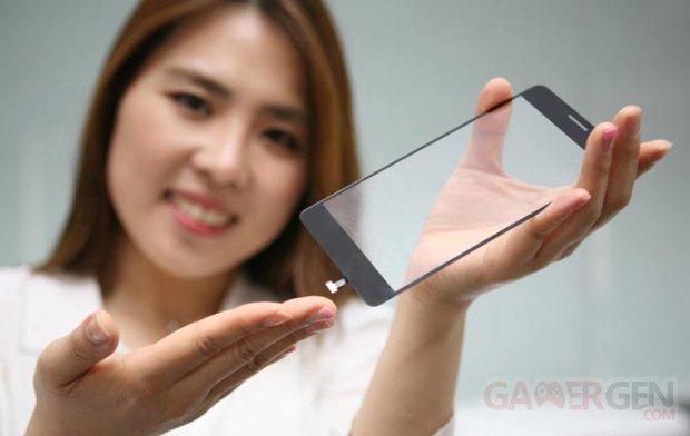 LG Innotek capteur empreinte biometrique vitre tactile