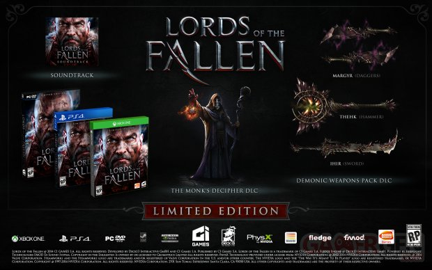 Lords of the Fallen 24 07 2014 édition limitée