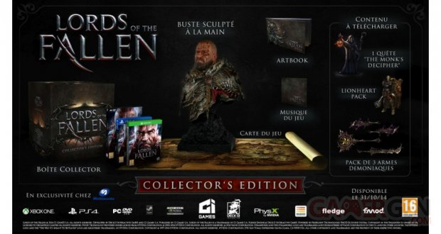 lords of the fallen collector micromania exclusif