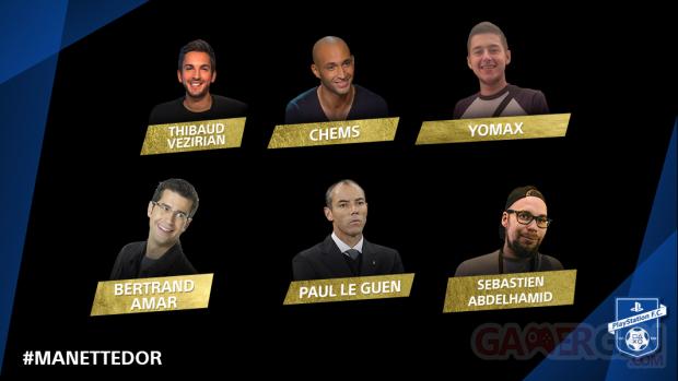Manette d'Or PlayStation 4 Jury