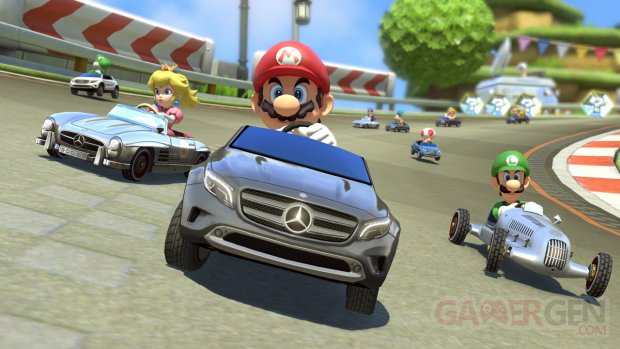 Mario Kart 8 06 08 2014 DLC Mercedez screenshot 1