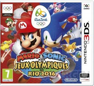 Mario Sonic Jeux Olympiques Rio 2016 jaquette