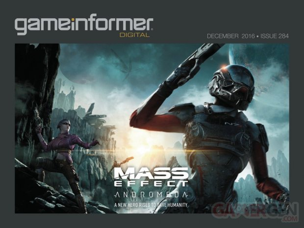 Mass Effect Andromeda GameInformer couverture 02 11 2016