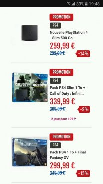 Micromania soldes promo bon plan PS4 pack console