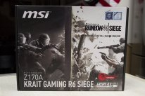 MSI Z170A Krait Gaming R6 Siege Rainbow Six Ubisoft Carte mère Motherboard Intel  Unboxing Déballage Présentation Images Photos GamerGen com Clint008 (25)