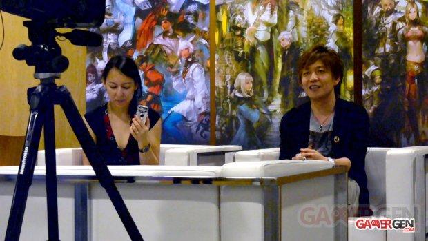 Naoki Yoshida avec traductrice