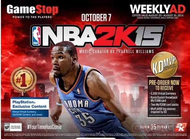 NBA 2K15 bonus