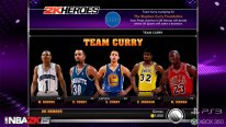 NBA 2K15 Mode Hero team curry