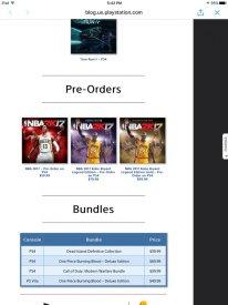 NBA 2K17 jaquette fuite