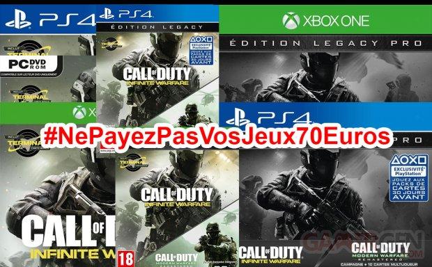 Ne Payez pas vos jeux 70 euros Call of duty infinite warfare