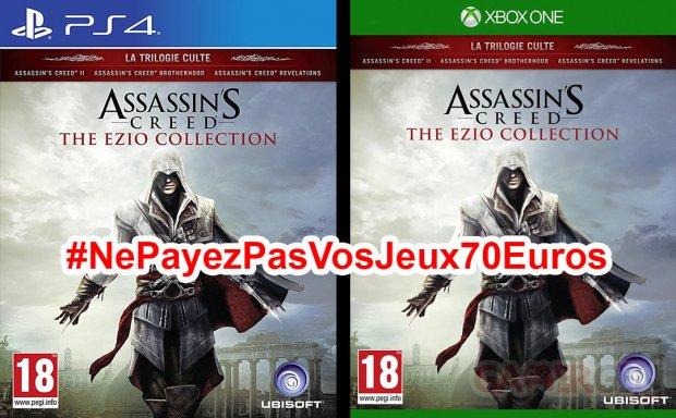 Ne Payez pas vos jeux 70 euros Ezio collection