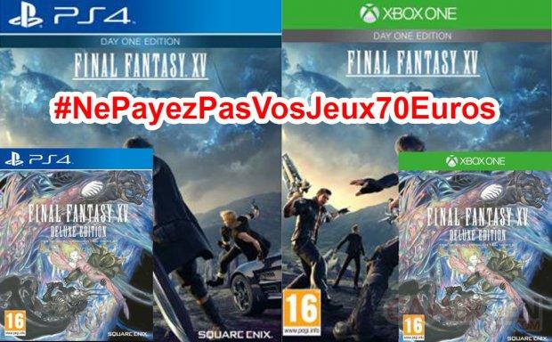 Ne Payez pas vos jeux 70 euros Final Fantasy XV
