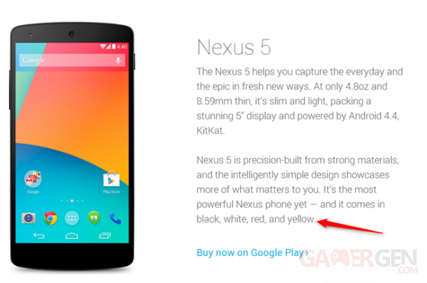 nexus 5 jaune androidcom Androidpolice