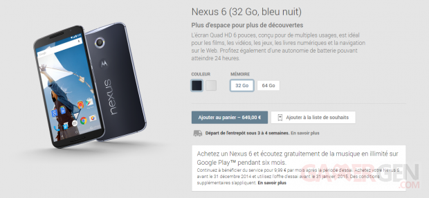 nexus 6 play store disponible