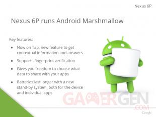 Nexus 6P Android 6 Marshmallow Fuite