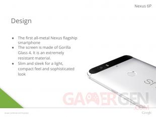 Nexus 6P Design Fuite