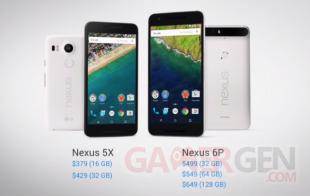 Nexus5X Nexus6P Prix