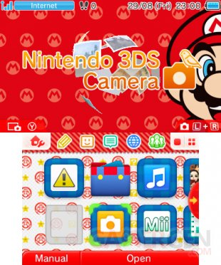 Nintendo 3DS menu personnalisable Home 3