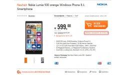 Nokia Lumia 930 date sortie
