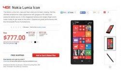 nokia lumia icon price
