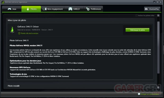 nvidia geforce experience driver 344