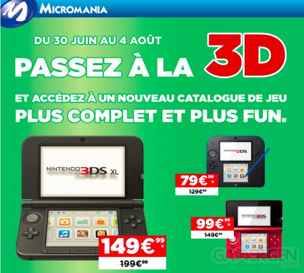 Offre 3DS, 3DS XL et 3DS Micromania