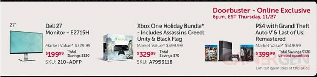 Offre Dell Thanksgiving Xbox One PS4