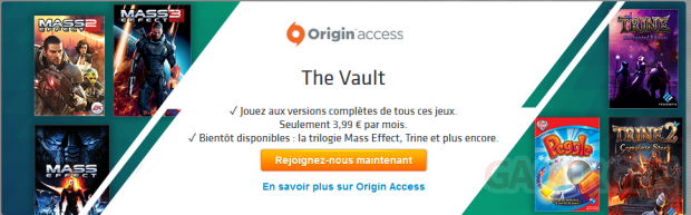 Origin Access mai juin