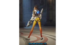 overwatch tracer victory pose 2 over the shoulder