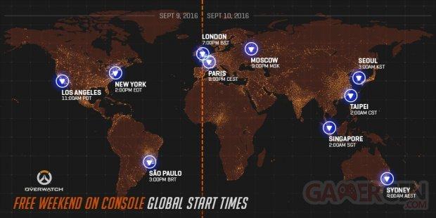 Overwatch week end gratuit carte monde horaires