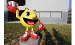 pac man sculpture hommage jeu video espagne