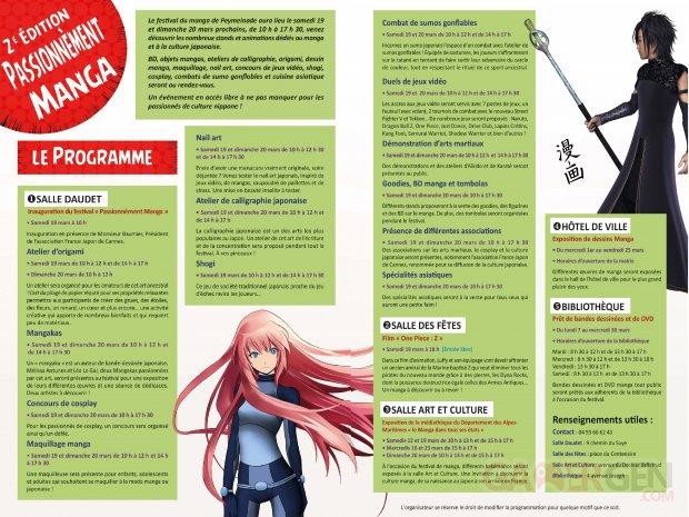 Passionnément manga 2016 programme