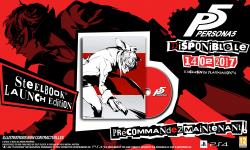 Persona 5 09 08 2016 steelbook