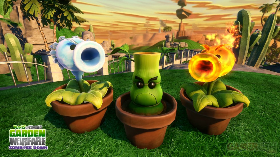 Images plants vs zombies garden warfare se met au western avec un