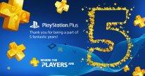 PlayStation Plus 29 06 2015 5 cinq ans anniversaire
