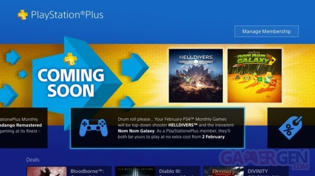 Playstation Plus FREE Games for Février 2016