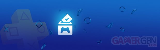 PlayStation Plus Vote to Play Votez pour Jouer banner