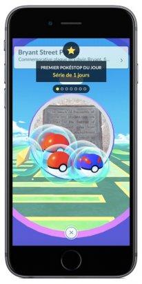 Pokémon GO Visite PokeStop FR