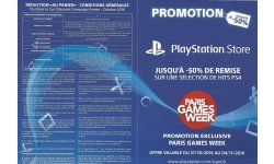 Promotion PSN Exclusivité Paris Games Week 01