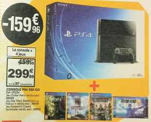 PS4 Bon Plan Auchan capture