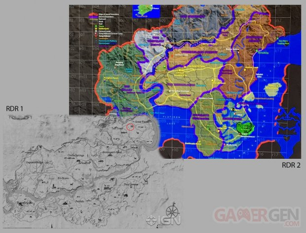 red dead redemption map supperposition